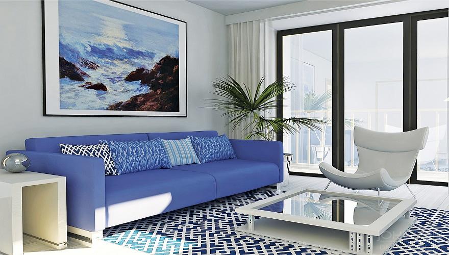 zariadenie v interiéry moderného bytu